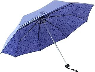 Make Shine Lightweight Travel Sun & Rain Umbrella, Purple Bird (Light)
