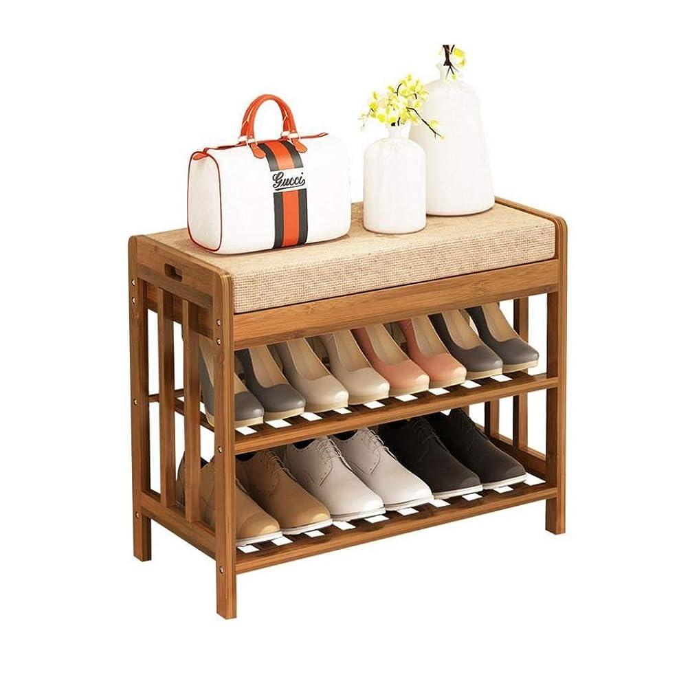 配分間違いなくパイプWYDG 靴ラック、2段靴収納ベンチ靴ラック8-12ペア用の木製スタッカブルホールドスタンド、省スペース、簡単な組み立て (Size : 70*30*50CM)