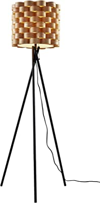 Adesso Home 5218-01 Transitional One Light Floor Lamp from Savannah Collection Finish, 23.75 inches, Matte Black
