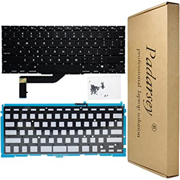 "Padarsey New Replacement US Layout Backlit Keyboard Compatible for MacBook Pro 15"" A1398 2013 2014 2015 Retina W/Screws(Please Confirm Your Your Keyboard Layout is US Layout!)"
