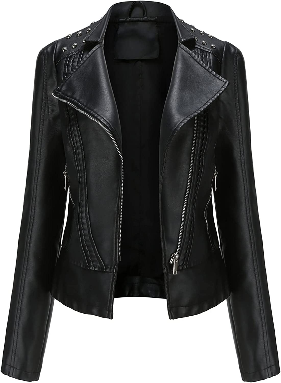 CRMY Women Colorado Springs Mall Casual Jacket free shipping Motorc Leather Faux Bomber