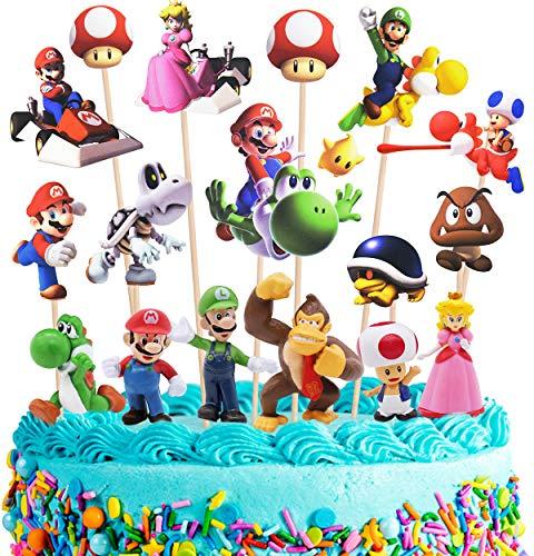 Miotlsy Super Mario Mini Figuren Set Geburtstags Party liefert Cupcake Figuren Party Kuchen Dekoration Lieferungen Cake Topper 24 Stück
