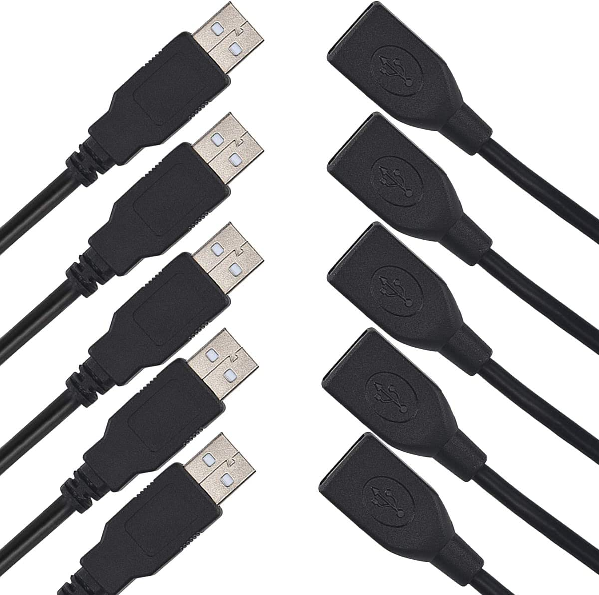 USB 2.0 Extension Cable 6.5 FT 5 Max 89% OFF Ext A to Male Female Pack Low price