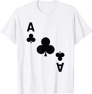 Ace of Clubs Shirt poker playing card halloween costume tee T-Shirt