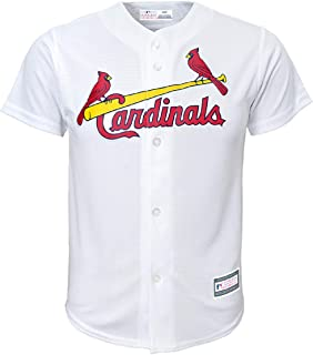 St Louis Cardinals Blank White Youth Cool Base Home Jersey