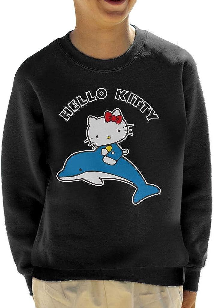 Hello Kitty Riding Dolphin Kid's Sweatshirt