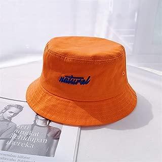 ZiWen Lu NAT ~ Japanese Harajuku Style hat Men and Women Casual Korean Wild Small pots hat Brim Sun hat Collapsible (Color : Orange, Size : One Size)