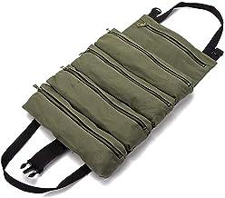DONGXIAN Fit Te koop Roll Tool Roll Multi-Purpose Tool Roll Up Bag Moersleutel Roll Pouch Hanging Tool Rits Tas (Color : Y...