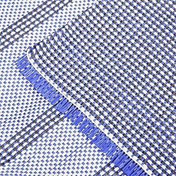 vidaXL Tapis de Tente Tapis de Camping Tapis d'Auvent de Caravane Voyage Patio Extérieur en Plein Air Anti-moisissure 550x250 cm Bleu