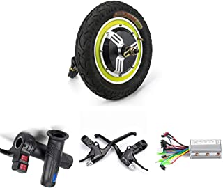 12inch Electric Scooter Conversion Kit 24V 36V 48V 350W Hub Motor DC Brushless Controller Twist Reverse Throttle and Brake for Mobility Scooter, Motor Vehicle Accessories