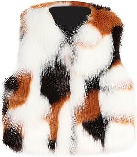 (プタス)Putars ベビー服 子供服 コート ベスト 冬服 女の子 フェイクファー パッチワーク もこもこ 大人っぽい 可愛い 秋 冬 旅行 記念日 プレゼント 3-8歳