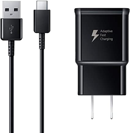Fast Wall Charger 4 Ft Type-C to USB Cable set for Samsung Note 9, Galaxy S8, Galaxy S9, Note 8, Galaxy S9 Plus, Quick charger set by Truwire (Fast Wall Charger + Type-C Cable) Charge up to 50% faster