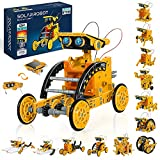 STEM Solar Robot Toys12-in-1, 190 PiecesSolar and Cell Powered 2 in 1, Educational DIY Assembly KitScience Building Set Gifts for Kids Aged 8+