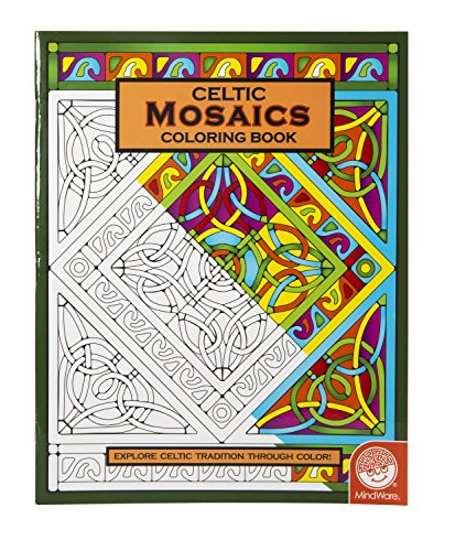 MindWare – Celtic Mosaic Coloring Book – 23 Unique Designs – Teaches Creativity and Fosters Imagination