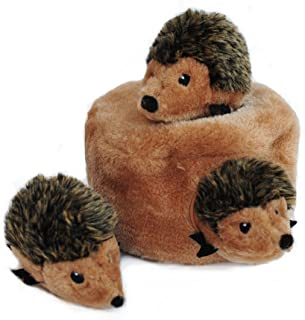 ZippyPaws - Woodland Friends Burrow ، Interactive Squeaky Hide و Seek Plush Toy Toy
