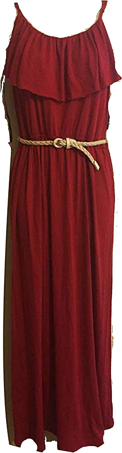 Amy Byer AGB Red Long Casual Maxi Dress M