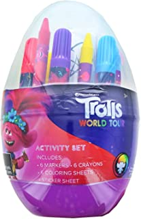 Trolls Activity Egg Craft Kit | Coloring Pages | Stickers | Markers | Crayons