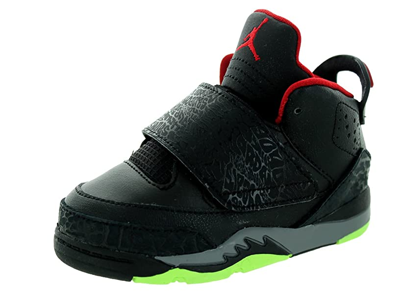 Nike Jordan Toddlers Jordan Son Of BT Black/Gym Red/Cl Grey/Grn Pls Basketball Shoe Infants US