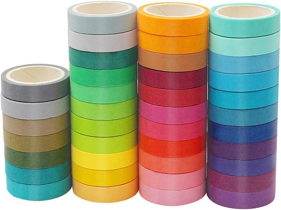 It is very popular 40 online shop Rolls Washi Tape Set 0.3 D Wide Masking inch Craft