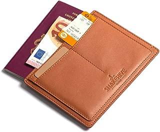 Passport Wallet Travel Wallet Travel Document Organizer Ticket Holder Card Holder (Tan)