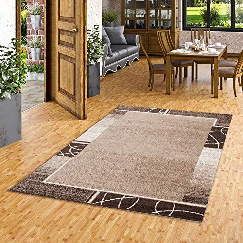 SoftStar Designer Teppich Braun Kakao Trend in 4 Größen
