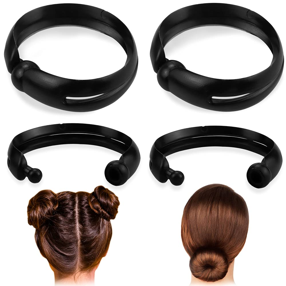 QMSILR 2 set of 4 Bun Hair Braiding Tool, Magic Hair Sticks Holder, Bun Shapers Ponytail Maker, Tail Kit Braid Accessories for Hair Styling, DIY Hair Tools for Women Girls Hairdresser Kits