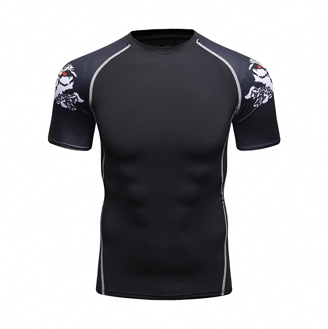 Fanii Quare Men's Lightweight Short Sleeve Cool Dry Rashguards Compression Sports Workout T-Shirt vehtrcrg05806