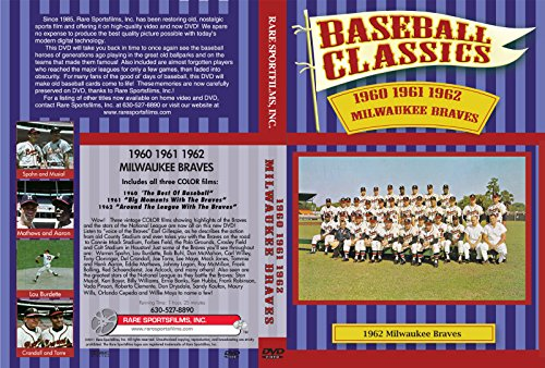 Baseball Classics MLB 1960 61 62 Milwaukee Braves DVD 3 Color films w Highlights