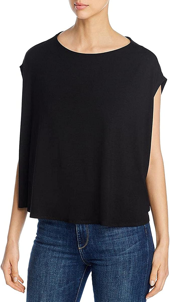 Eileen Fisher Womens Bateau Neck Knit Top 2021 autumn and winter new Tank free shipping