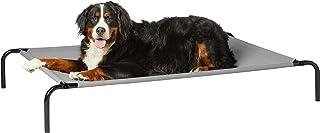 AmazonBasics Elevated Cooling Pet Bed, XL, Grey