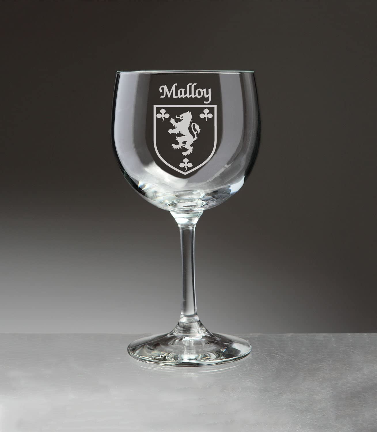 Regular store Malloy Irish Coat of Arms Red Wine Glasses Sand 4 Etch Set - Raleigh Mall