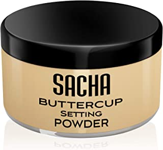 Sacha BUTTERCUP Setting Powder. No Ashy Flashback. Blurs Fine Lines and Pores. Loose, Translucent Face Powder to Set Makeu...