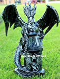 Dragon Statue with Solar Light Lantern