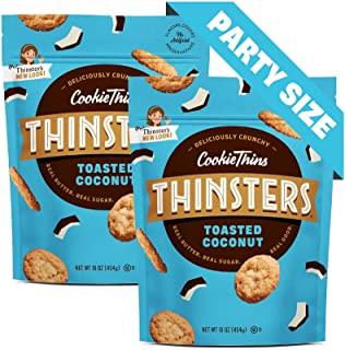 Thinsters Cookies Toasted Coconut, 16 Oz (Pack Of 2), Non Gmo