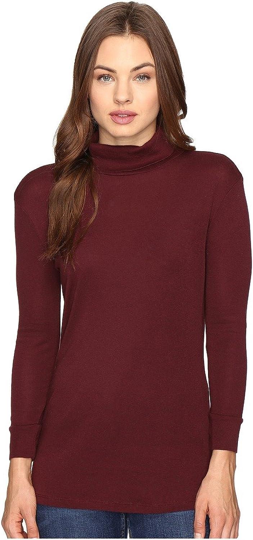 AG Adriano goldschmied Women's Noah Turtleneck Wine Shirt