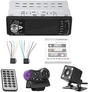 Auto MP5 Player, 4,1 Zoll HD Bluetooth Freisprecheinrichtung Auto MP5 Player Videowiedergabe FM Radio AUX Speicherkarte USB Fernbedienung(mit Kamera)