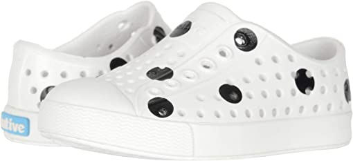 Shell White/Shell White/Jiffy Black Polka Dots