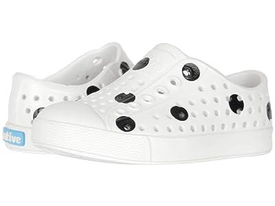 Native Kids Shoes Jefferson Print (Toddler/Little Kid) (Shell White/Shell White/Jiffy Black Polka Dots) Girls Shoes