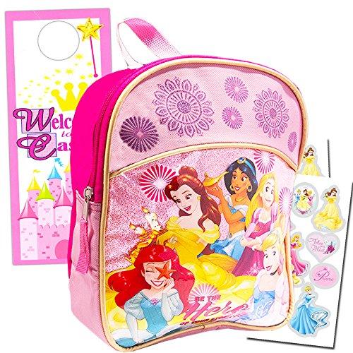 Disney Princess Mini Toddler Preschool 11' Backpack Set ~ Cinderella, Ariel, Rapunzel