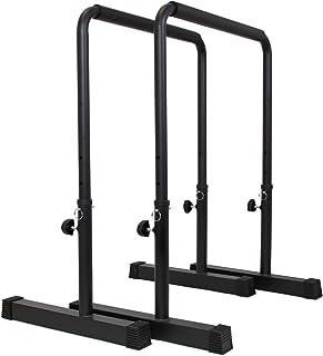 comprar comparacion POWER GUIDANCE Barras Paralelas para Entrenamiento Ajustable para Calistenia, Gimnasia, Fitness 62 * 52* (76-98) cm