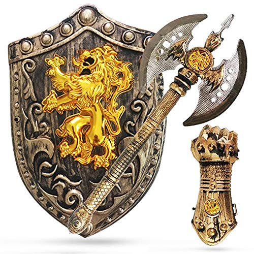 Lvbeis Child' Armadura Caballero Medieval - Espada,Guardamanos de Armadura, Coraza para Niños Guerrero Cosplay,B