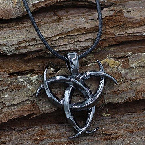CNZXCO Brazalete Vikingo, Pulsera Vikinga Hombre, Amuletos De La Suerte Y Proteccion, Vikings Collar De Vikingo para Hombres, Joyas De Símbolo De Vikings, Runa Feliz