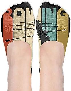 Calcetines de estilo vintage Rowing Silhouette Womens Performance Comfort Fit No-Show.