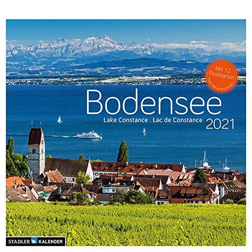 Bodensee 2021: Postkarten-Tischkalender