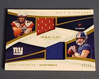 Football NFL 2018 Panini Immaculate Collection Past and Present Jerseys #20 Kyle Lauletta NM Near Mint Jersey 15/25