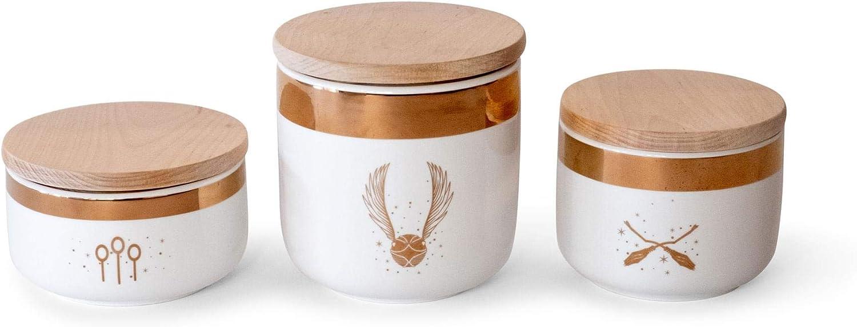 Ranking TOP1 Ukonic Harry Ranking TOP14 Potter Quidditch Ceramic Food Jars 3-Pack Storage