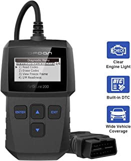 OBD2 Scanner, AL200 Code Reader for Reading/Clearing Check Engine Light, I/M Readiness Checking, OBDII Car Diagnostic Scan Tool for All 1996+ Vehicles, Simple Operation OBD Scanner TOPDON