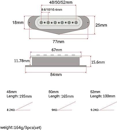 クリアボビンアルニコVシングルセット /  LuDa アルニコVシングルコイルピックアップセット3本セットSSSにあるSTスタイルギターブラックカラー 仕様書