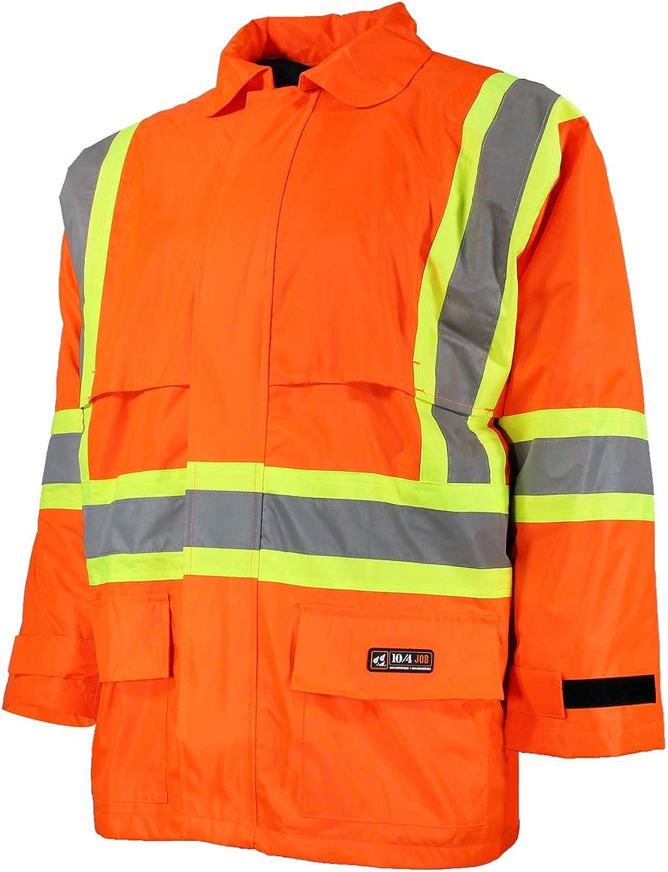 10 Ultra-Cheap Deals depot 4 JOB - High Visibility Jacket Vi Gear Rain Hi Work