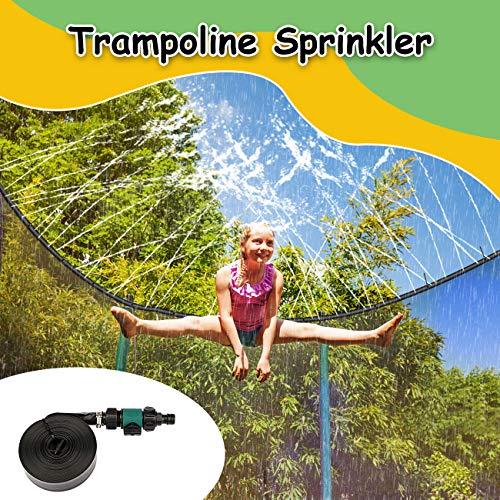 Trampolin-Sprinkler - Wasserspiel für Kinder im Freien Trampolin-Sprinkler im Freien Wasserpark Sommerspielzeug Hinterhof-Wasserspiele Sprinkler für Trampolin 40Ft